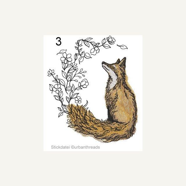 Stickpackung Stickbild sticken 13x13 cm little Boar Wildschwein Frischling Wald
